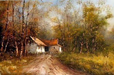 Paysage D Automne A Peindre Loulouue